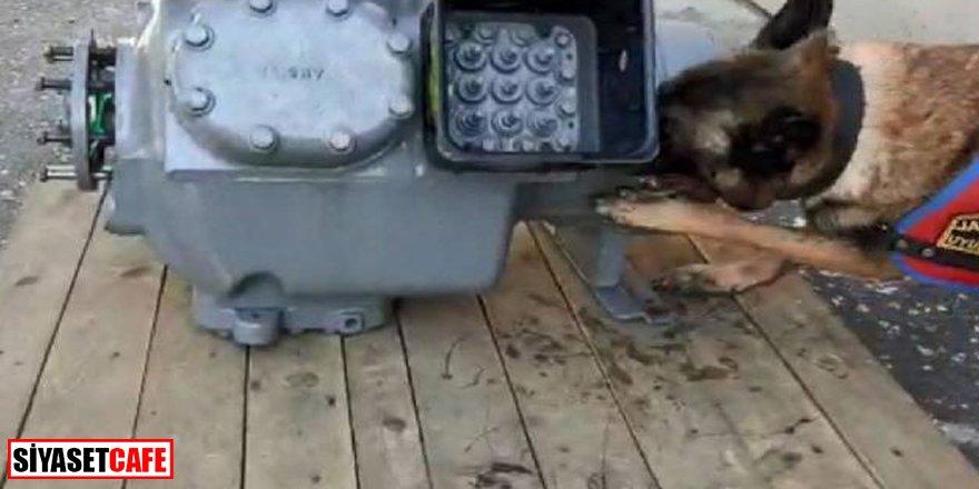 Hava kompresörünün içinden tam 11 kilo kokain çıktı