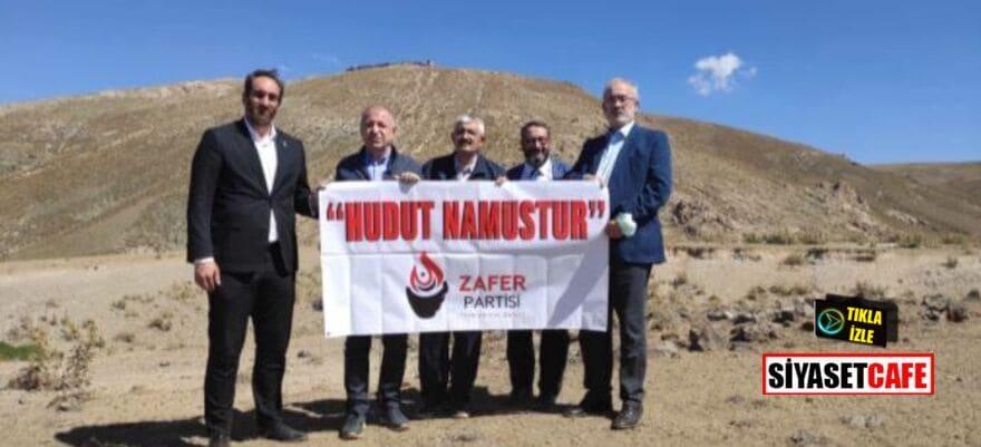Ümit Özdağ, İran sınırında 'Hudut Namustur' pankartı açtı