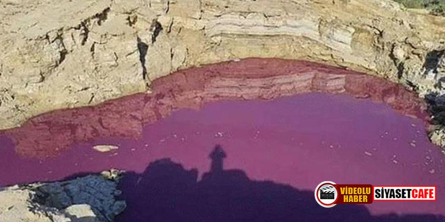 İncil'de geçen kıyametin habercisi göl kırmızıya döndü
