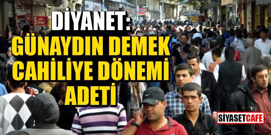 Diyanet İşleri Başkanı Ali Erbaş: 'Günaydın' demek cahiliye dönemi adeti!
