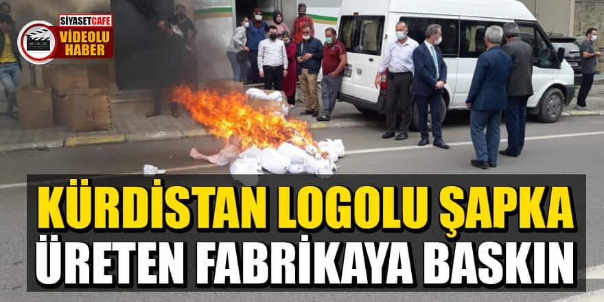 Kürdistan logolu şapka üreten fabrikaya baskın!