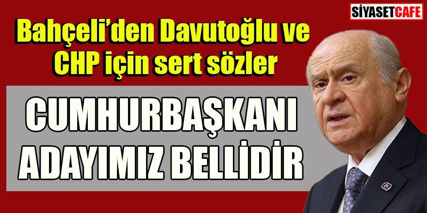 Bahçeli'den Davutoğlu ve CHP için sert sözler