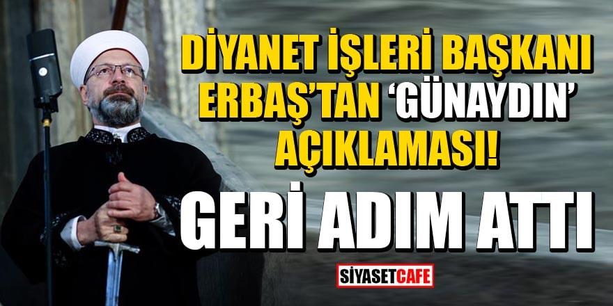 Ali Erbaş'tan 'günaydın' açıklaması!