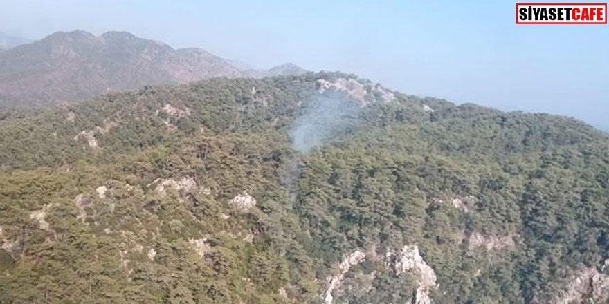 Marmaris'te orman yangını: Müdahale sürüyor
