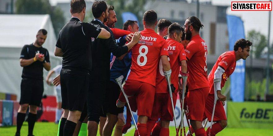 Türkiye Ampute Futbol Milli Takımı Avrupa Şampiyonası'nda finalde