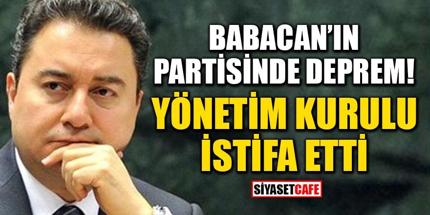 DEVA Partisi'nde deprem! Melikgazi yönetim kurulu istifa etti