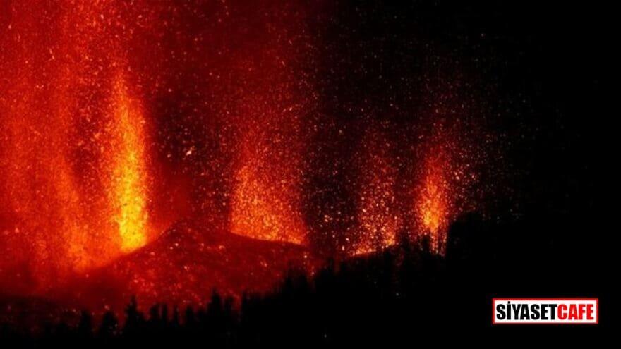 Lavlar yakarak ilerliyor, 100'den fazla ev yok oldu