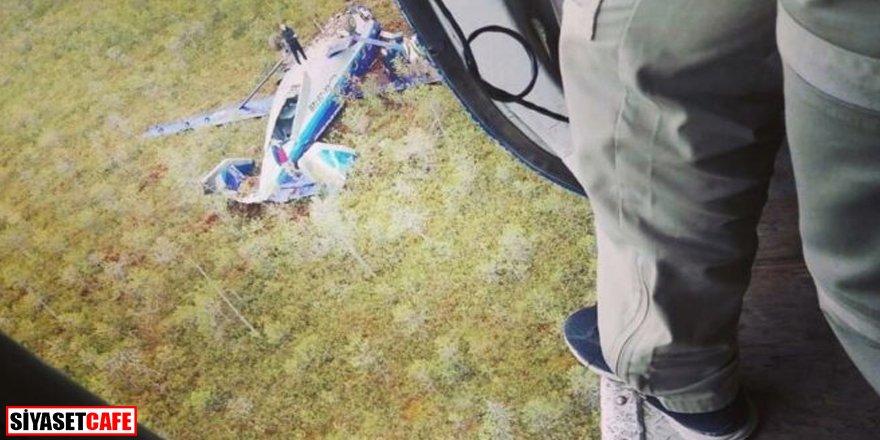 Radardan kaybolan uçak düştü