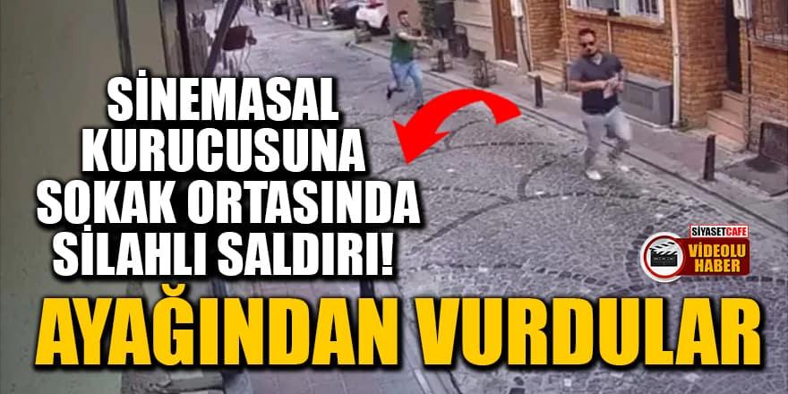 Sinemasal kurucusu Enes Kaya'ya sokak ortasında silahlı saldırı! Ayağından vurdular
