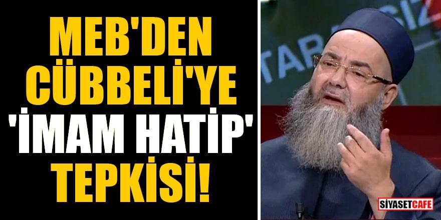MEB'den Cübbeli'ye 'imam hatip' tepkisi!