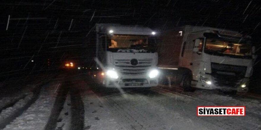 Kış erken bastırdı: Yolar kapandı
