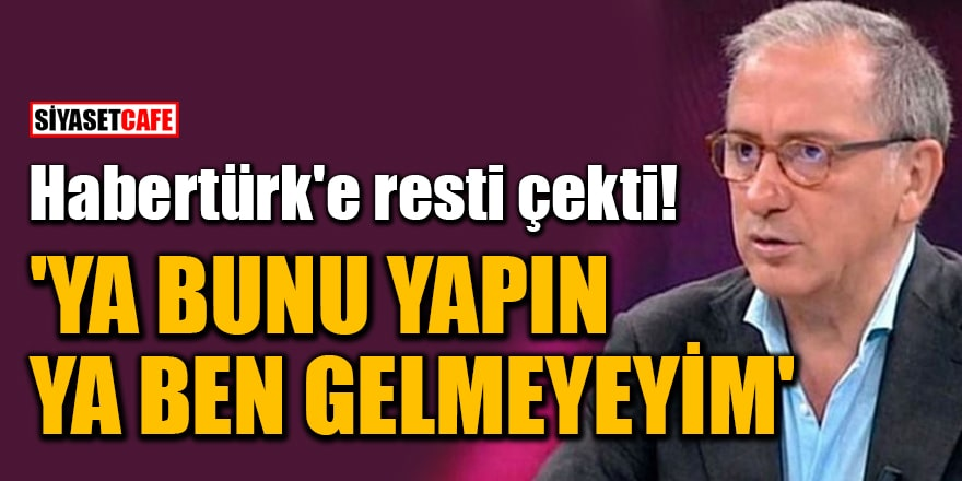 Fatih Altaylı, Habertürk'e resti çekti! 'Aşı olmayanları binaya almayın'