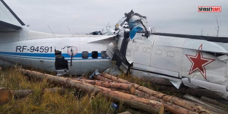 Tataristan'da uçak düştü! Çok sayıda ölü var