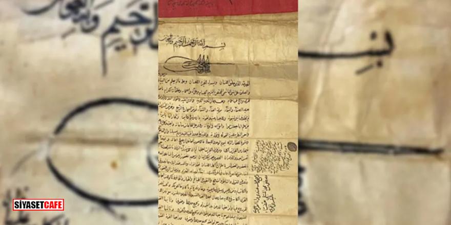Fatih Sultan Mehmed'in fermanı satışa çıkıyor!
