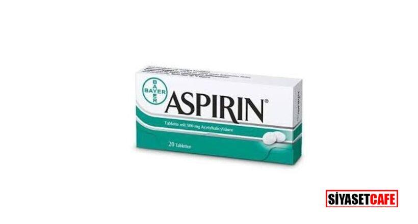 Aspirin ile ilgili önemli gelişme: Kullanım tavsiyesi geri çekildi