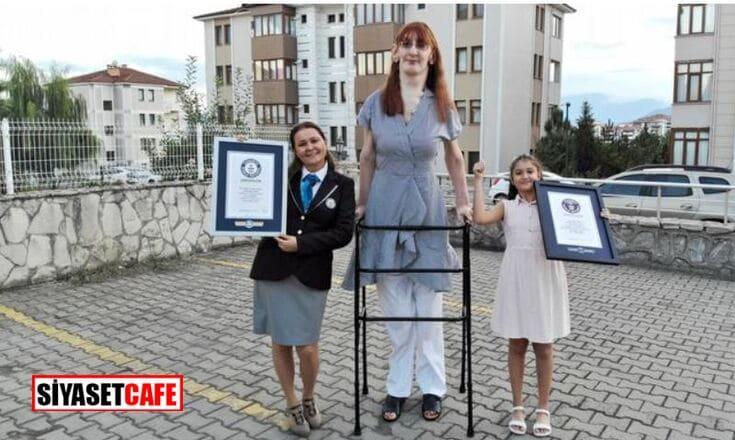 Karabüklü Rümeysa, dünyanın en uzun boylu kadını olarak Guinness Rekorlar Kitabına girdi