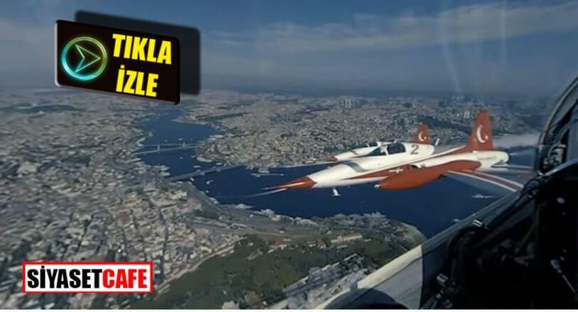 Türk Yıldızları'nın İstanbul semalarından çektiği muhteşem görüntüler