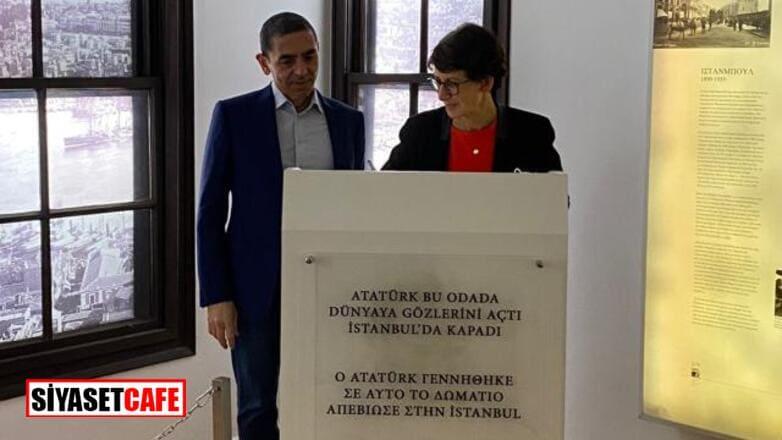 Türk bilim insanları Türeci ve Şahin Atatürk'ün evini ziyaret etti
