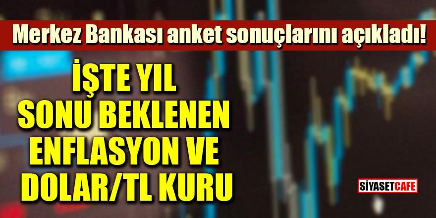 Merkez Bankası anket sonuçlarını açıkladı! İşte yıl sonu beklenen enflasyon ve dolar/TL kuru