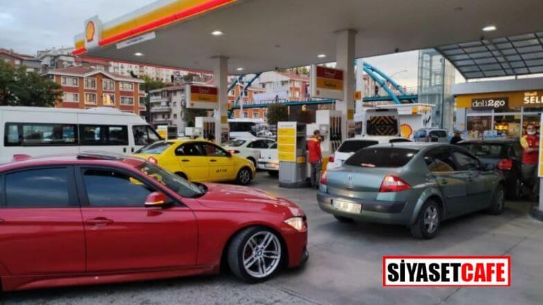 Zam öncesi benzin istasyonlarında uzun kuyruklar oluştu