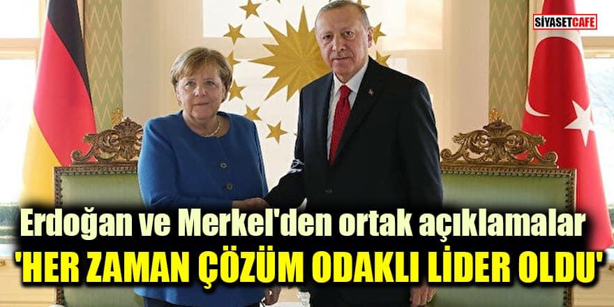 Cumhurbaşkanı Erdoğan ve Almanya Başbakanı Merkel'den ortak açıklamalar!