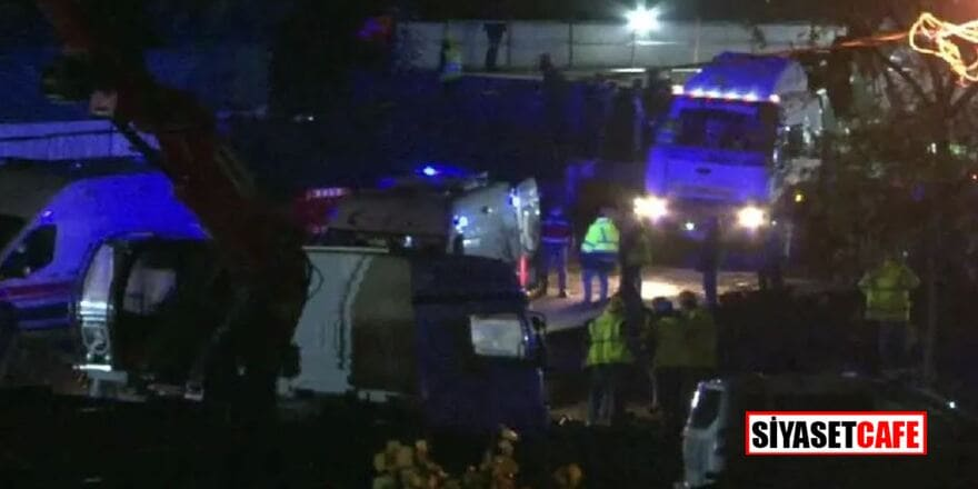 Metro şantiyesinde feci kaza,işçileri tünele indiren vincin halatı koptu: Yaralılar var