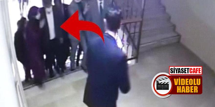 Ahmet Davutoğlu'nun asansör kazası kamerada!