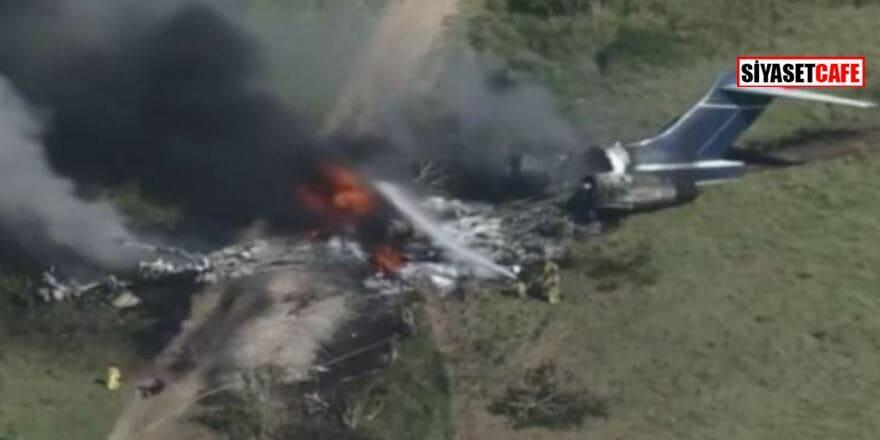 Düşerek parçalanan uçaktan 21 kişi sağ çıktı