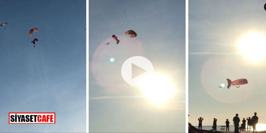 Ölüdeniz'de korkunçkaza! Paraşütler havada çarpıştı: 4 yaralı