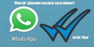 WhatsApp'da 'Mavi Tık' Gitmeden Mesajları Okuma