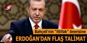Bahçeli'nin ittifak önerisine Erdoğan'dan flaş talimat