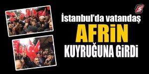 İstanbul'da vatandaş Afrin kuyruğuna girdi