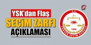 YSK'dan flaş seçim zarfı açıklaması