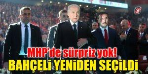MHP'de sürpriz yok! Bahçeli yeniden seçildi