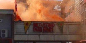 PKK parti binasını ateşe verdi