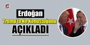 Erdoğan, Trump'la ne konuştu? Kendisi açıkladı