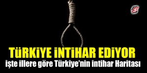 Türkiye intihar ediyor! İşte illere göre Türkiye'nin intihar haritası