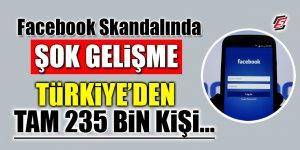 Facebook Skandalında Şok gelişme… Türkiye'den tam 235 bin kişi…