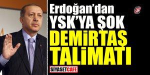 Erdoğan'dan YSK'ya şok Demirtaş talimatı