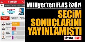 Milliyet'ten FLAŞ özür! Seçim sonuçlarını yayınlamıştı