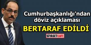 İbrahim Kalın açıkladı: Türk lirası üzerindeki spekülasyon bertaraf edildi