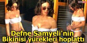 Defne Samyeli'nin bikinisi yürekleri hoplattı