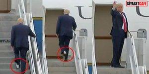 Trump uçağa tuvalet kağıdıyla bindi!