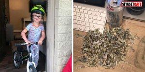 2 yaşındaki afacan babasının parasını böyle doğradı!