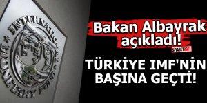 Bakan Albayrak açıkladı! Türkiye IMF'nin başına geçti