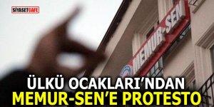 Ülkü Ocakları'ndan Memur-Sen'e protesto