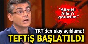 TRT'den olay açıklama! Teftiş başlatıldı
