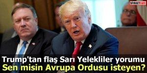 Trump'tan flaş Sarı Yelekliler yorumu Sen misin Avrupa Ordusu isteyen?