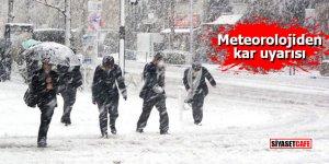 Meteorolojiden 5 il için kar uyarısı