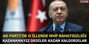AK Parti'de o illerde MHP rahatsızlığı Kazanamayız dediler kazan kaldırdılar